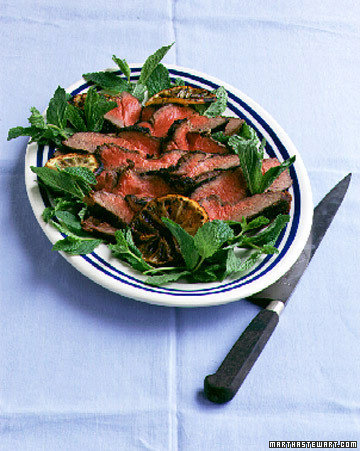 Grilled Butterflied Leg of Lamb with Tahini-Mint Marinade