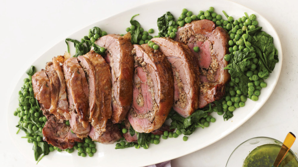 Butterflied, Rolled, and Roasted Leg of Lamb