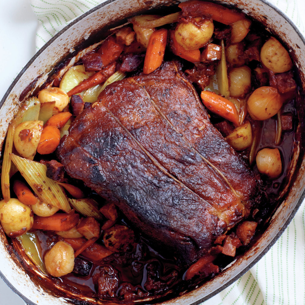 Pot Roast with Bacon and Vegetables