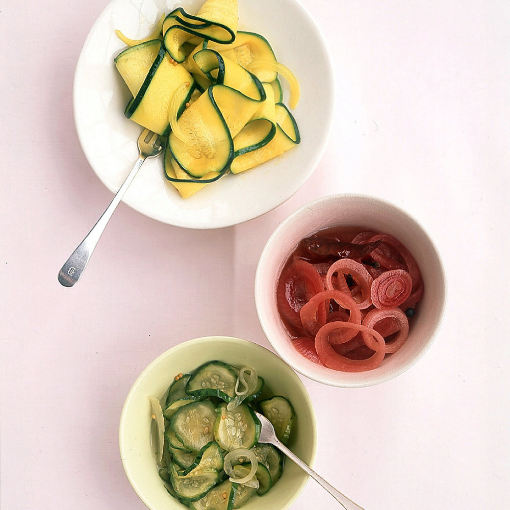 Colorful Bread-and-Butter Pickles