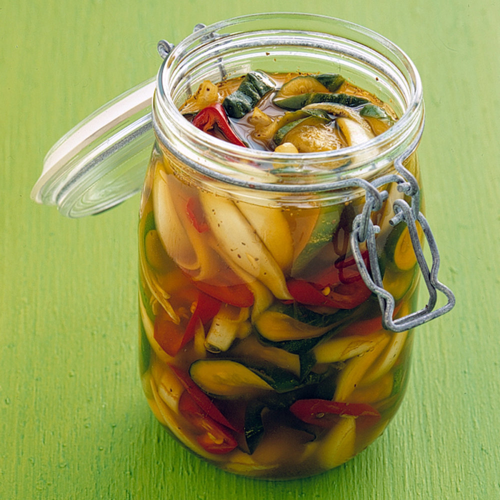 Pickled Cucumbers and Jalapenos