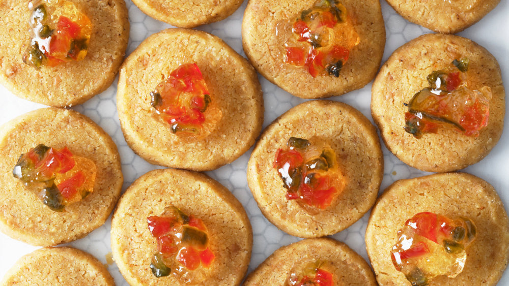 Cheese Coins with Jalapeno Jelly
