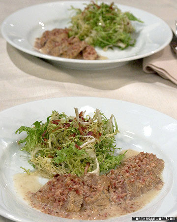 Eric's Sauteed Shad Roe with Bacon-Butter Sauce and Frisee