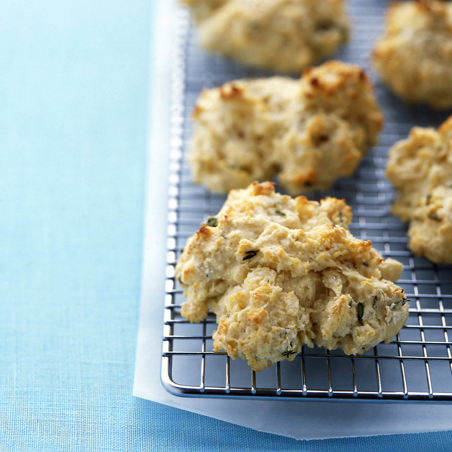 Buttermilk-Thyme Drop Biscuits