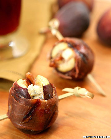 Grilled Prosciutto-Wrapped Figs with Blue Cheese and Pecans