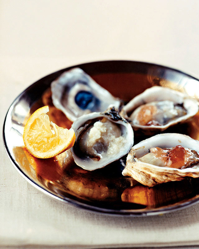 Oysters with Mignonette Gelee