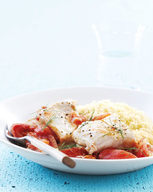 Halibut with Tomatoes and Fennel
