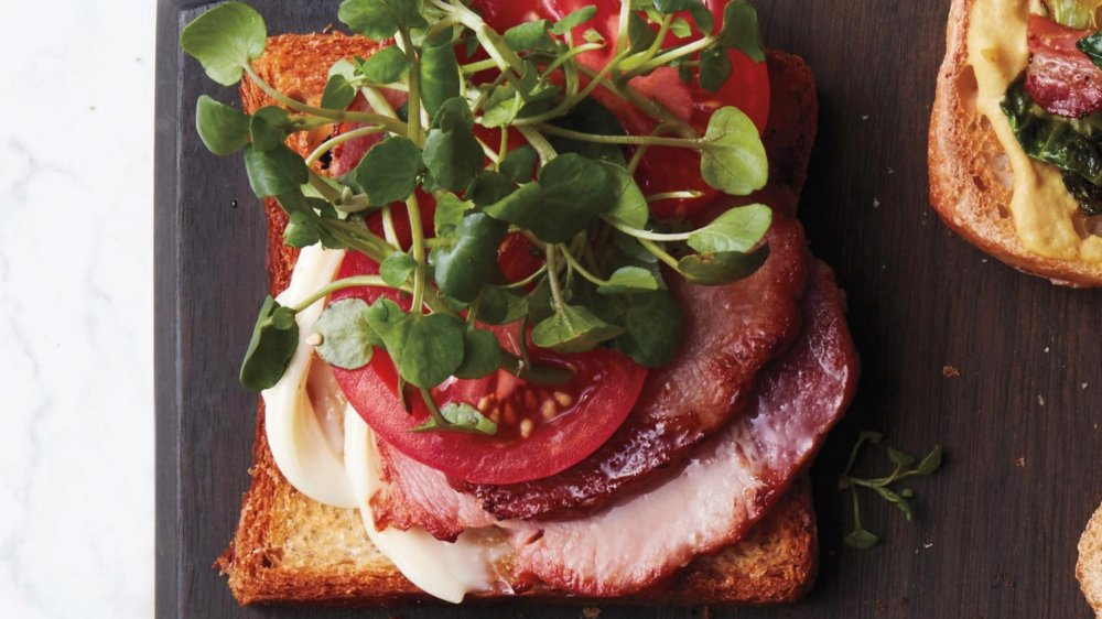 Fried-Egg Breakfast BLT with Watercress