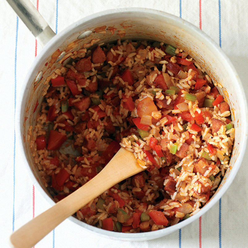 Red Rice with Sausage and Peppers