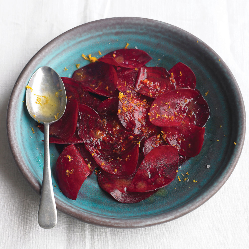 Shaved Beets with Orange