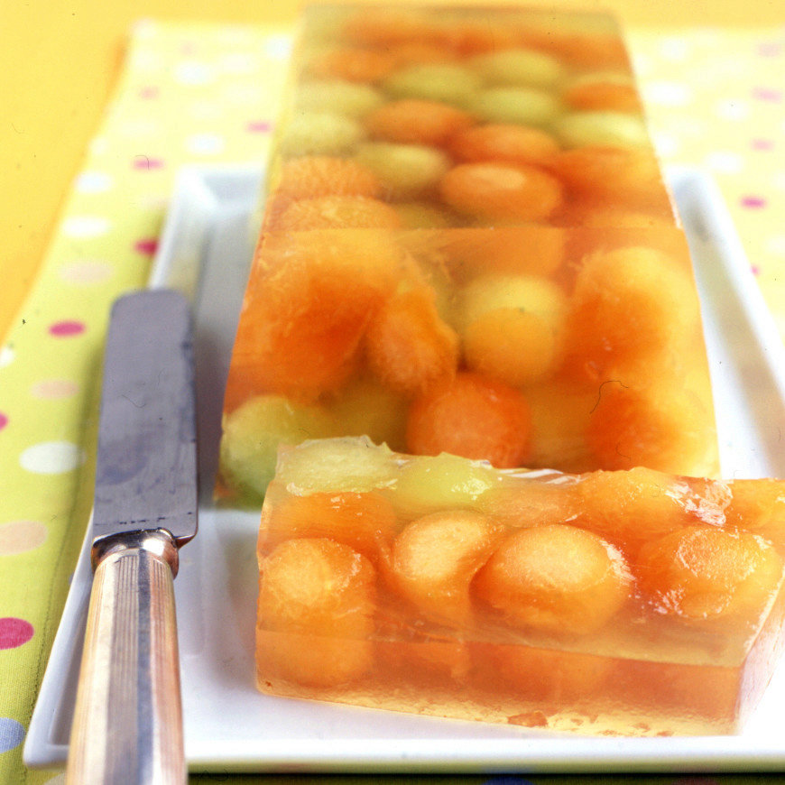 Cantaloupe and Honeydew Gelatin