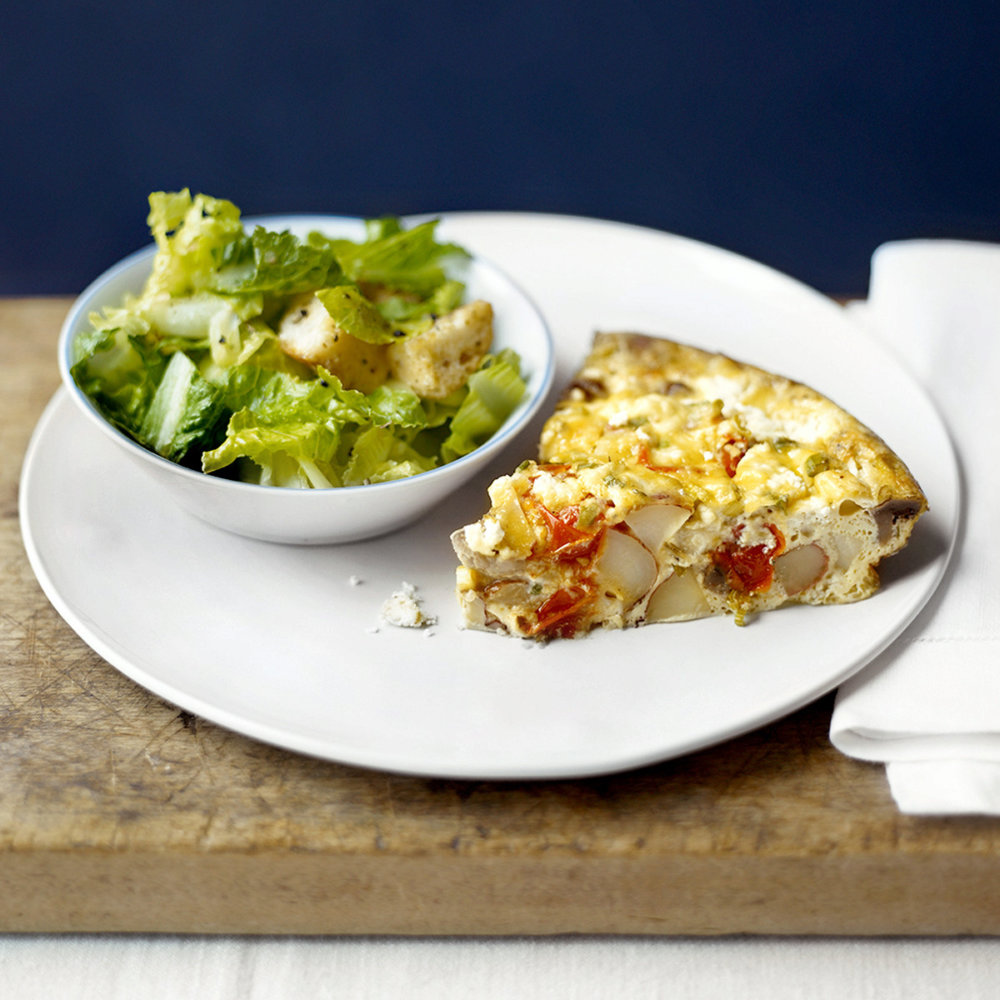 Baked Egg Custard with Cheese