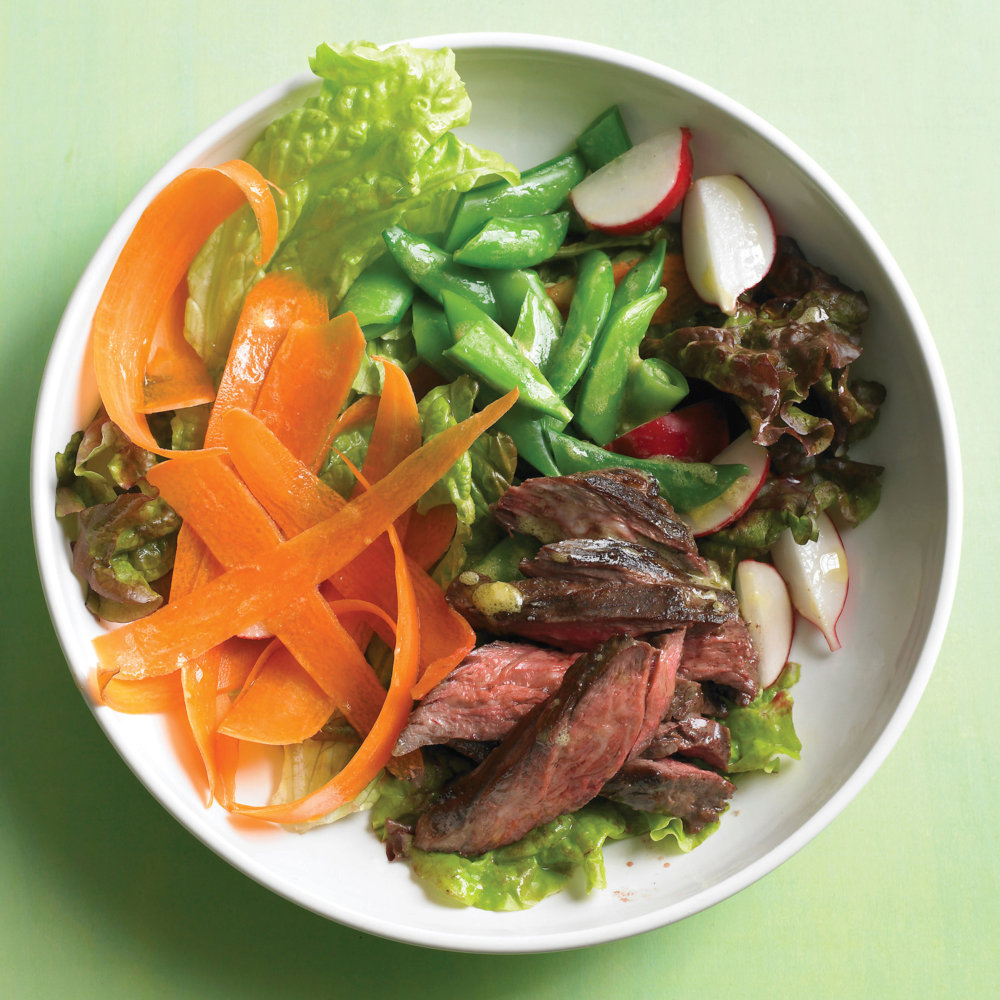 Steak Salad with Snap Peas