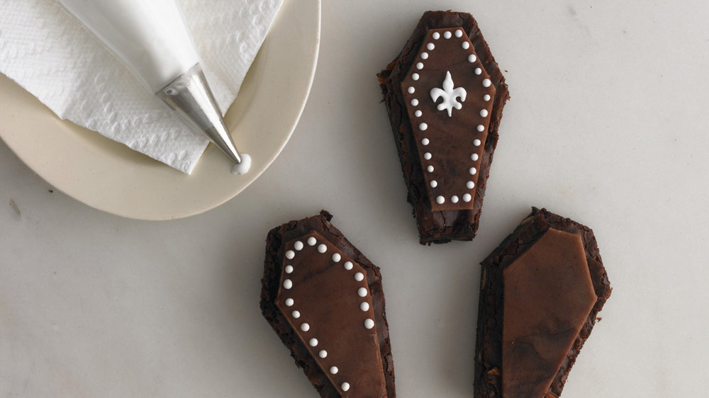Almond Brownie Coffins