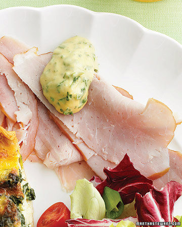 Ham with Parsley-Mustard Sauce