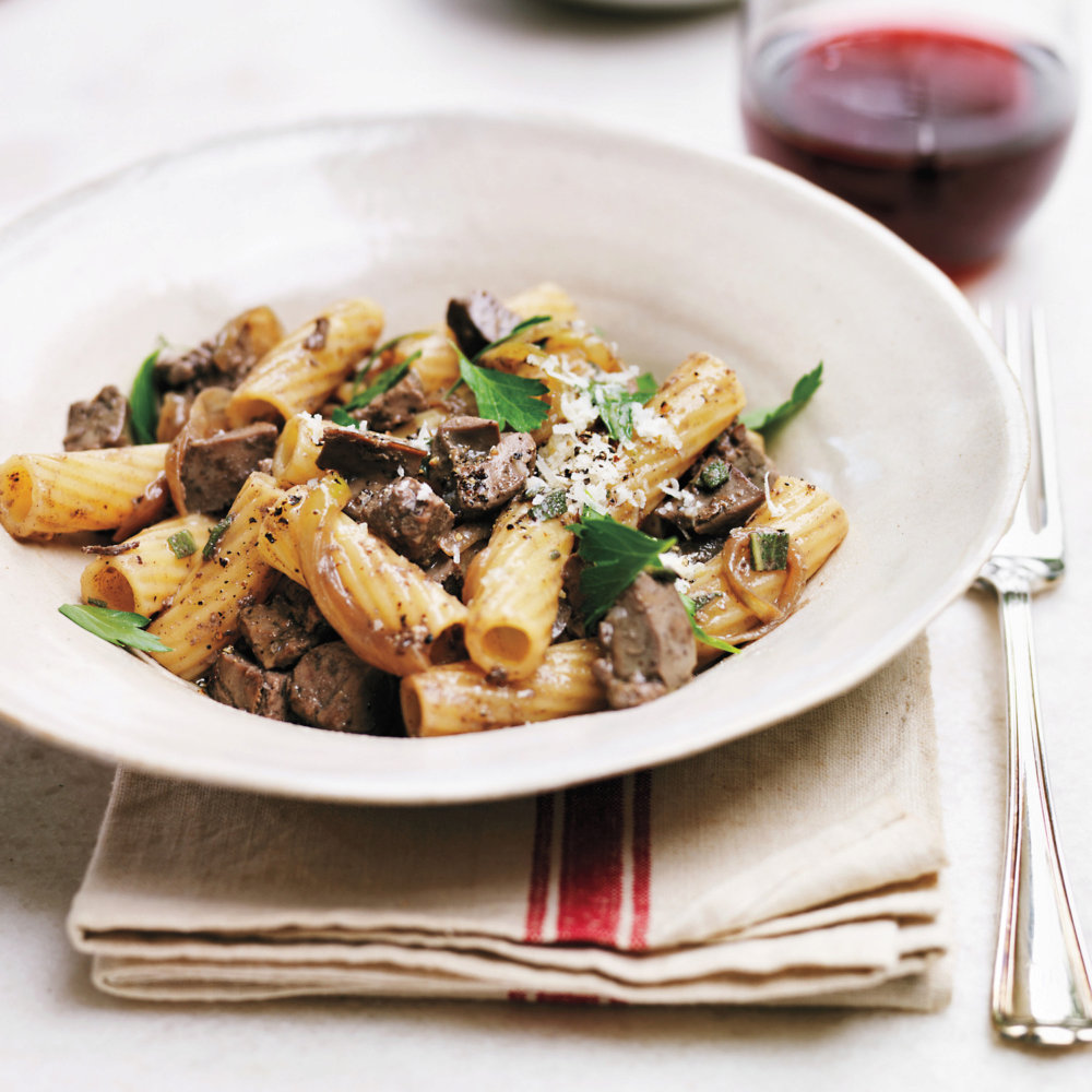 Rigatoni with Chicken Livers
