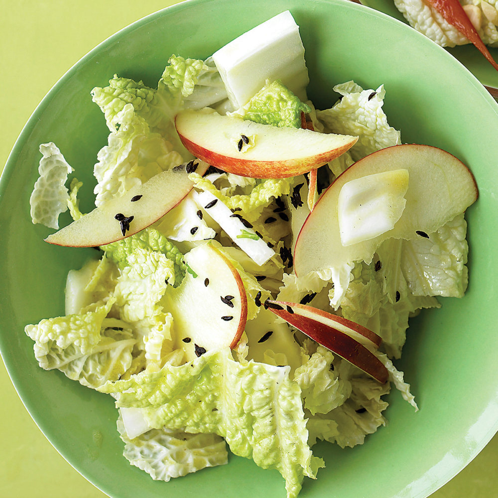 Napa Cabbage Salad with Apples and Caraway Seeds