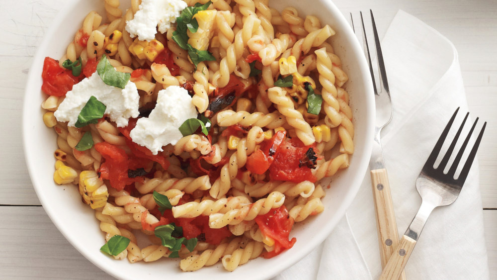 Grilled Tomato and Corn Pasta