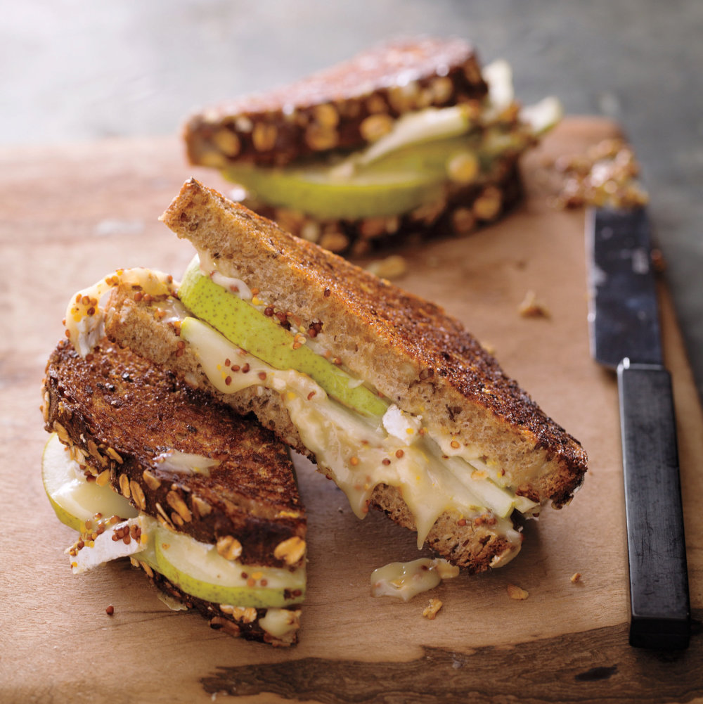 Brie, Pear, and Mustard Grilled Cheese