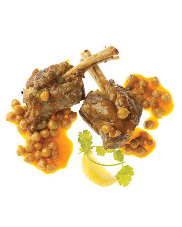 Moroccan Lamb Shanks with Chickpeas and Dates