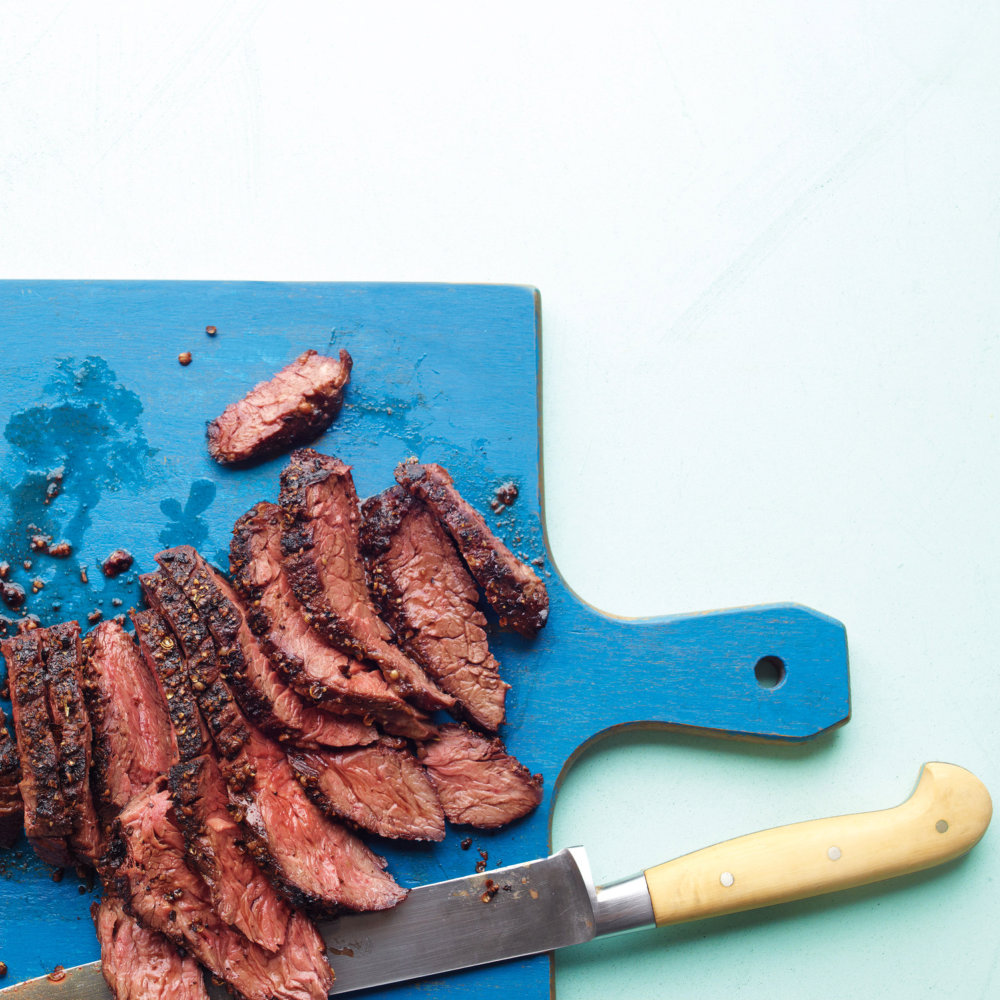 Coriander-Crusted Hanger Steak