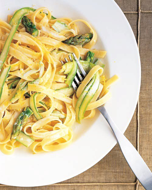 Fettuccine with Asparagus Ribbons