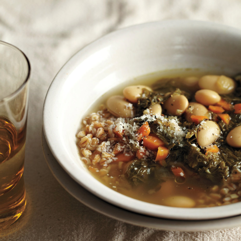 Italian White-Bean-and-Mustard-Greens Soup