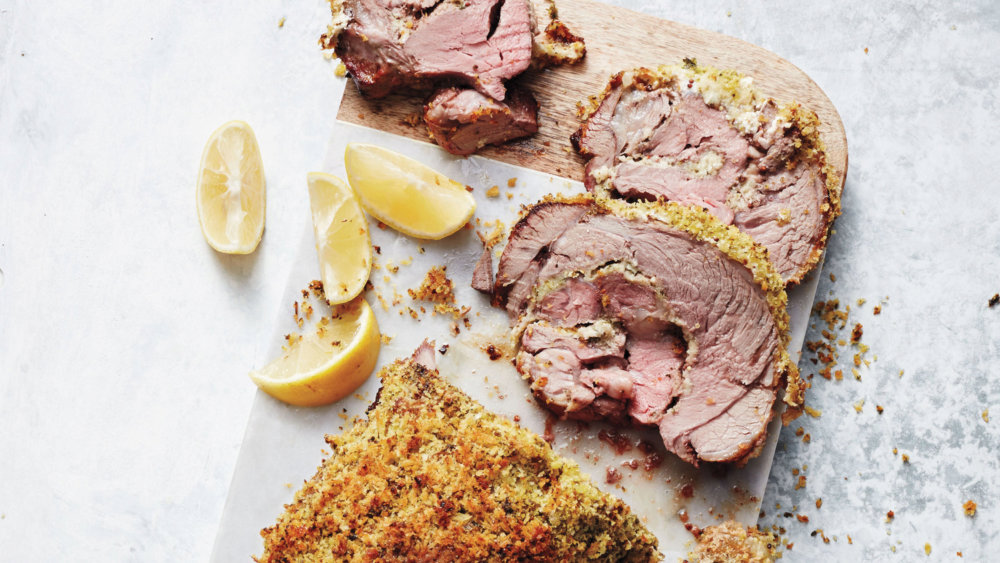 Yogurt-and-Herb-Crusted Leg of Lamb