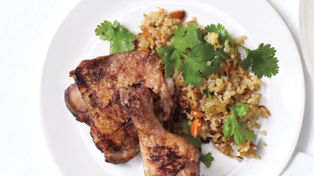Grilled Spicy Chicken with Bulgur