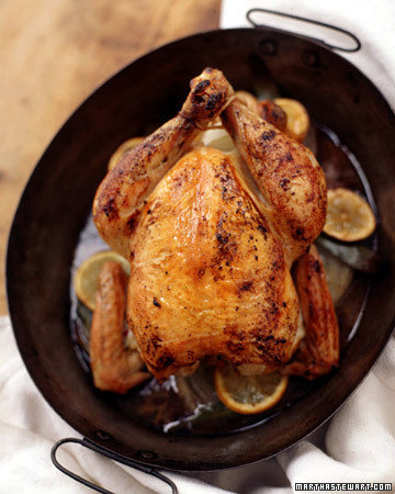 Roasted Chicken with Onion Gravy