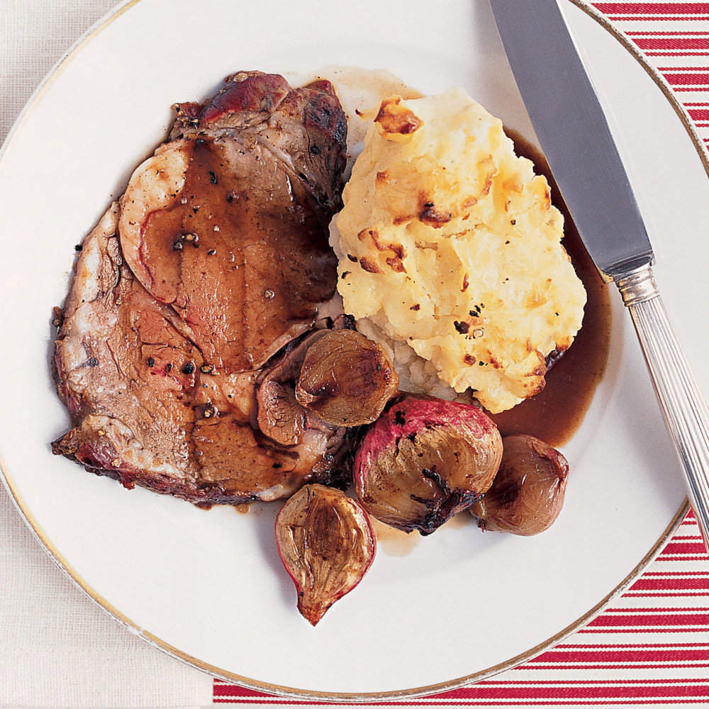 Roast Beef with Caramelized Shallots