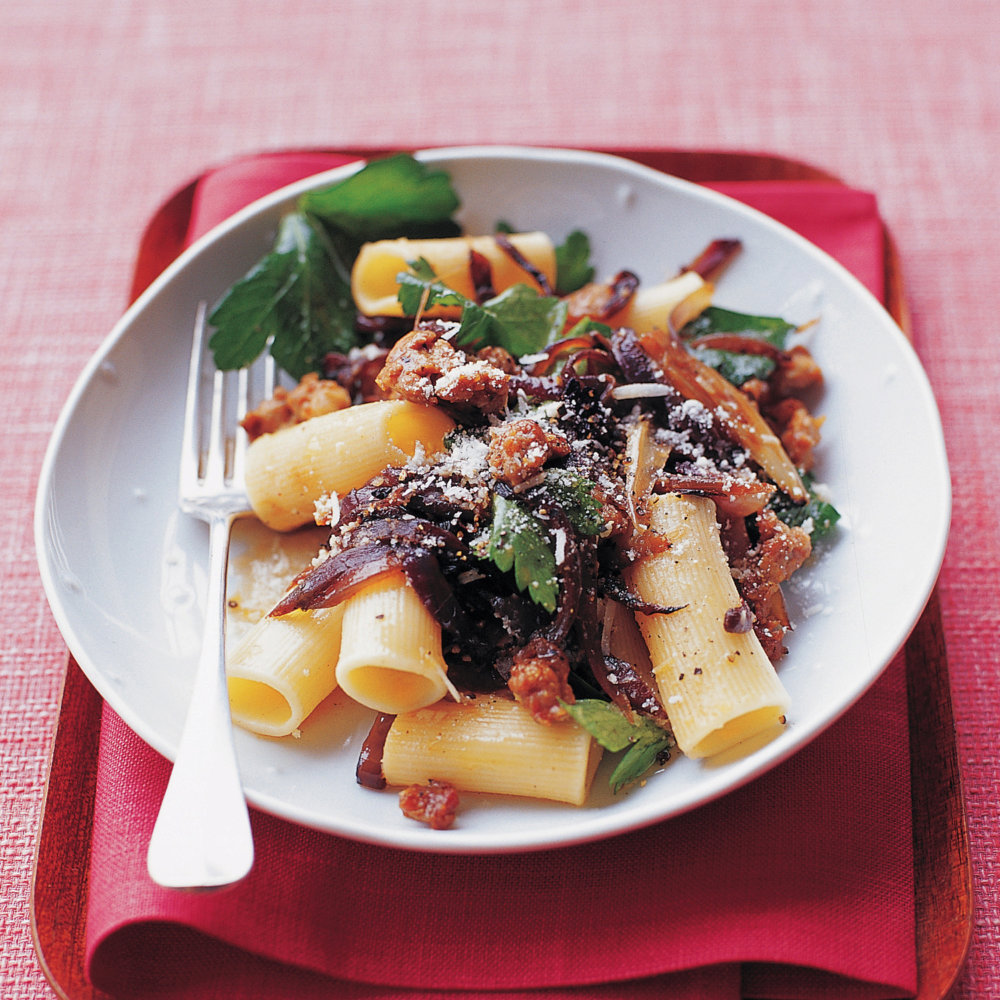 Rigatoni with Sausage and Parsley