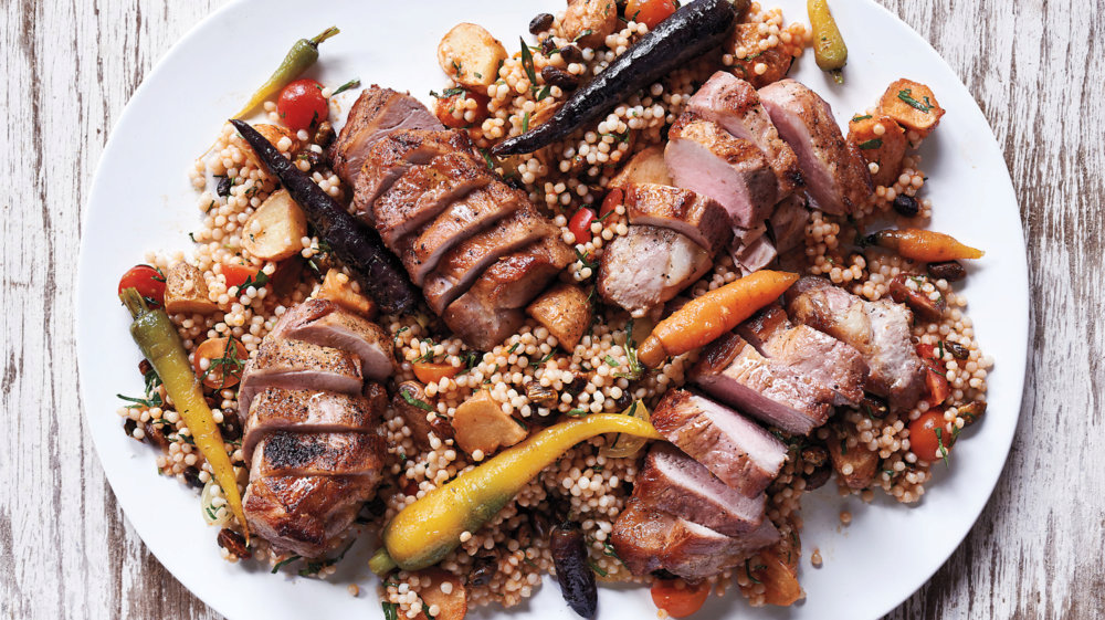 Pasture-Raised Pork with Couscous and Vegetables