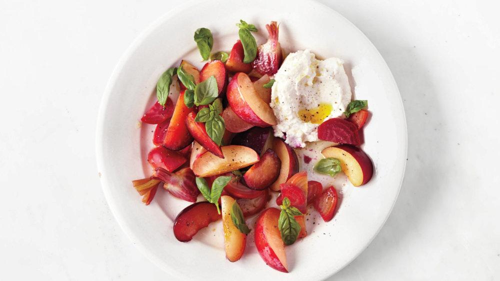 Beet, Plum, and Ricotta Salad