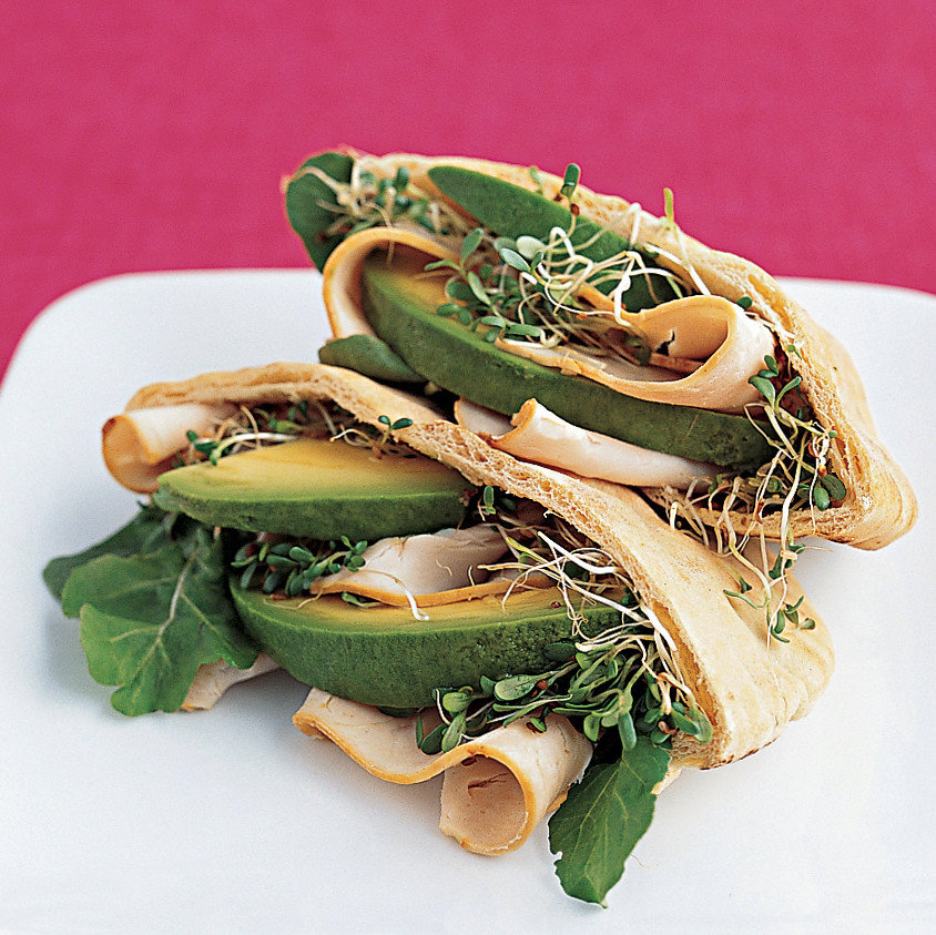 Turkey Pita with Avocado and Sprouts