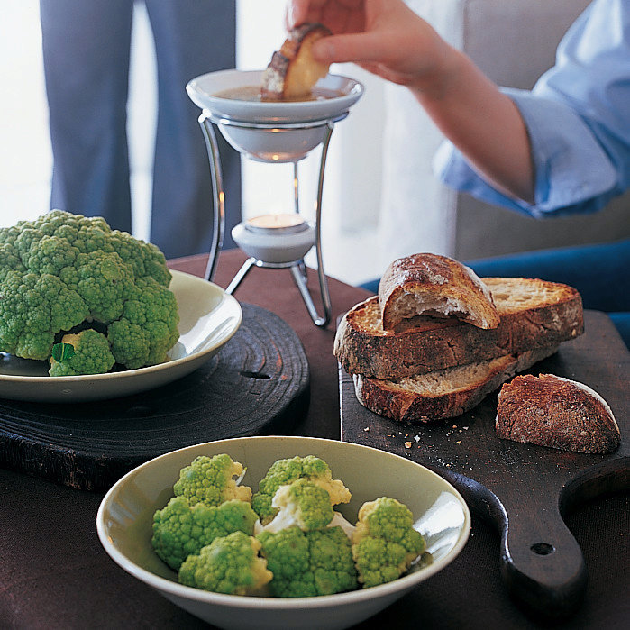 Bagna Cauda with Broccoflower and Toasted Country Bread