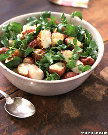 Warm Potato and Watercress Salad