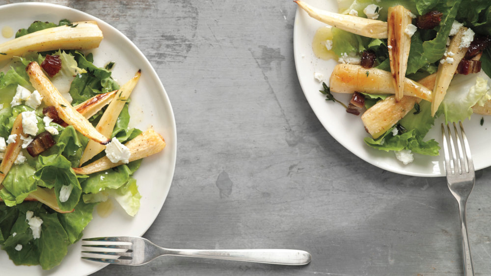 Roasted Parsnip and Date Salad