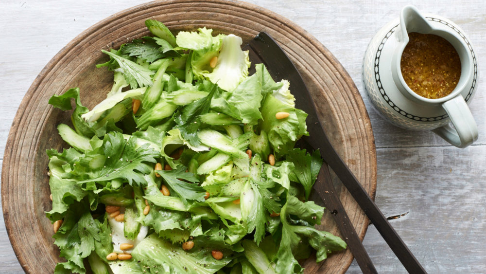 Escarole Salad with Celery and Pine Nuts