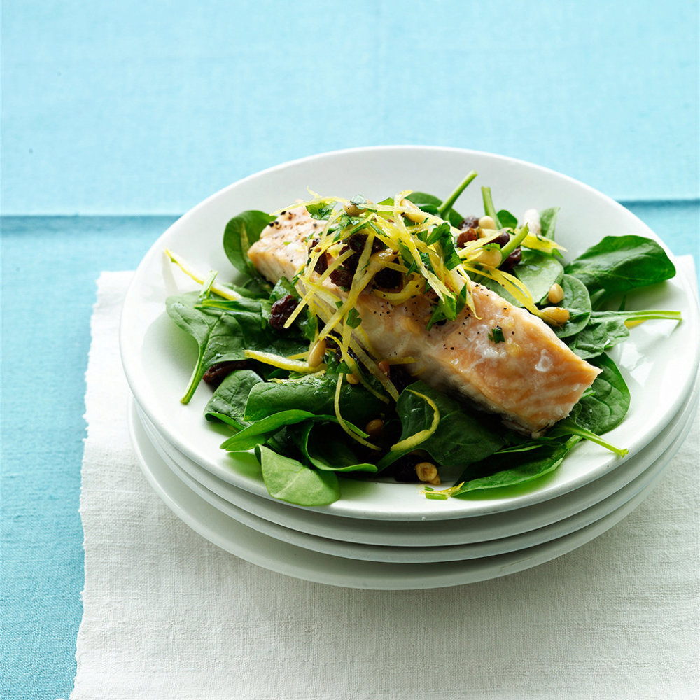 Roasted Salmon with Lemon Relish