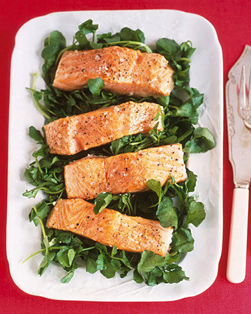 Slow-Roasted Salmon with Green Sauce