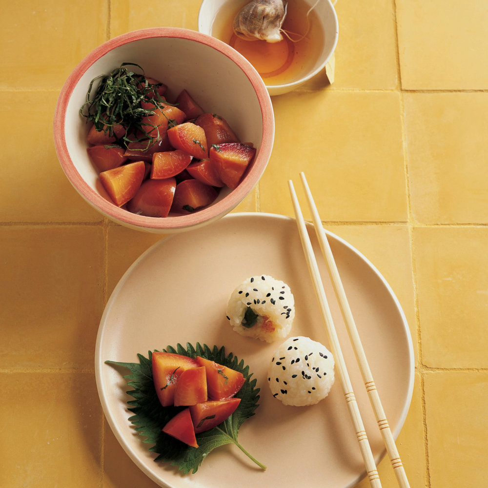 Pickled Plums with Shiso