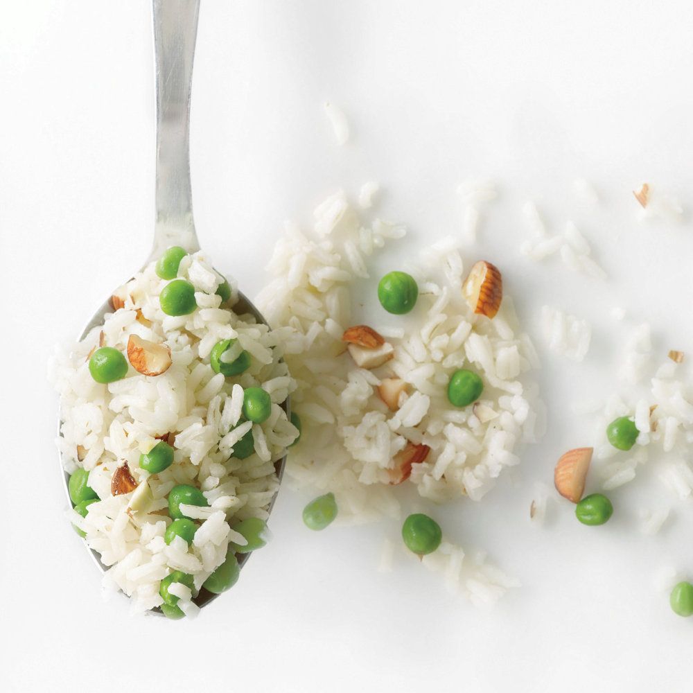Rice Pilaf with Peas and Almonds