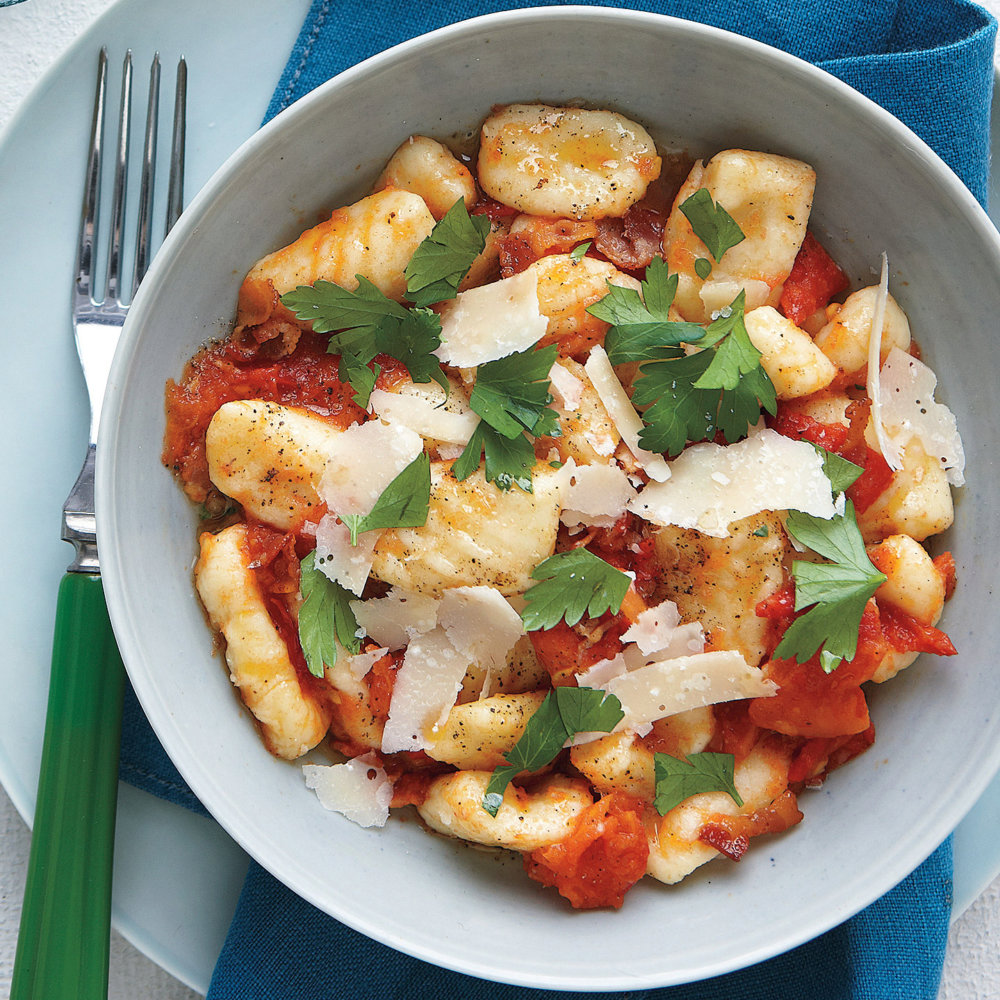 Gnocchi with Bacon and Tomato