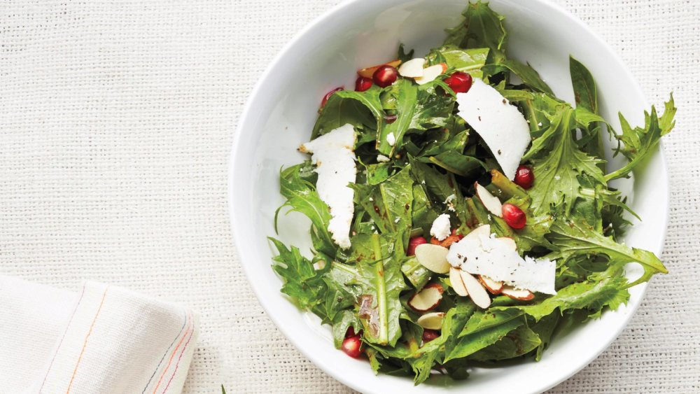 Dandelion Greens with Pomegranate Molasses