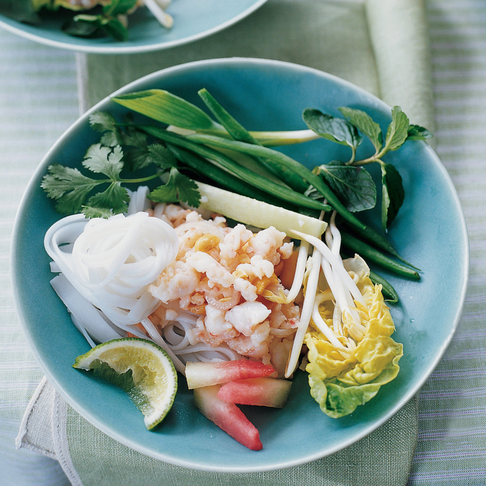 Asian Shrimp Salad with Vegetables and Herbs