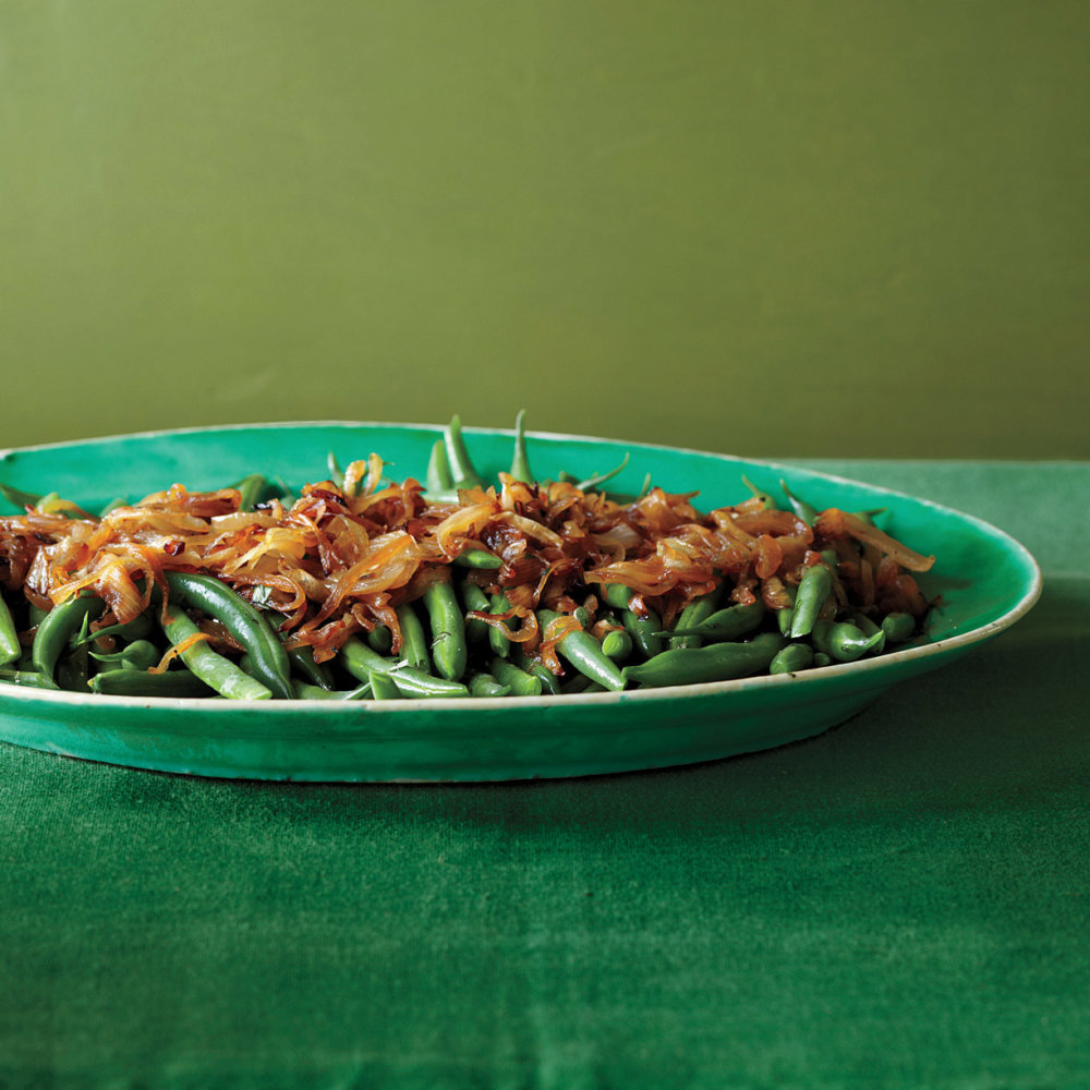 Green Beans with Caramelized Onions and Tarragon