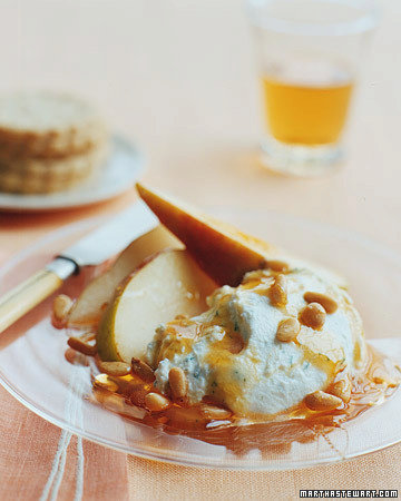 Herbed Cheese with Pears, Pine Nuts, and Honey