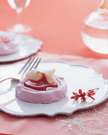 Raspberry-Cream Pavlovas