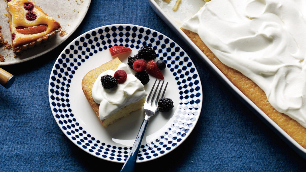 Coconut Cake with Berries and Cream